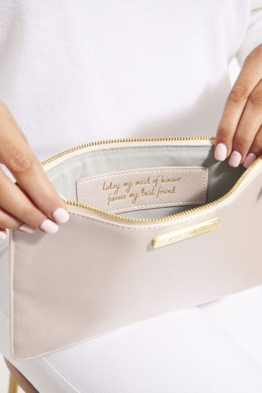 Katie Loxton Perfect Pouch Bridesmaid Gift with Secret Message Inside