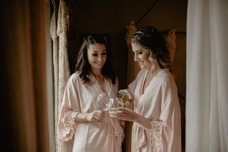 Blush Pink Getting Ready Robes