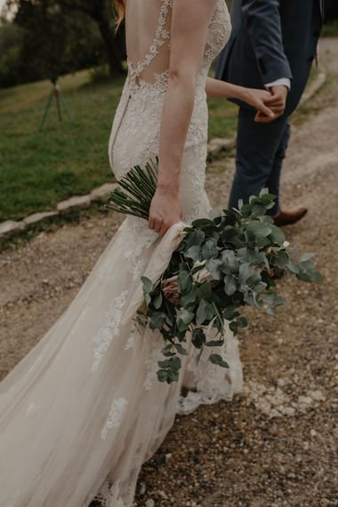 Oversized Bridal Bouquet with Eucalyptus