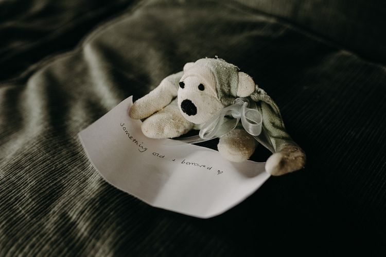 Something old and borrowed soft toy
