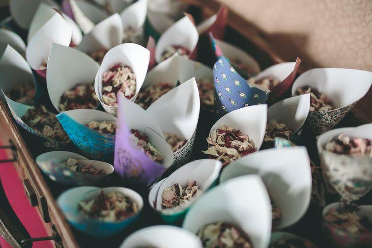 Confetti Cones Filled with Bio-degradable Confetti from Shropshire Petals