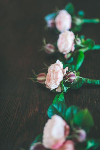 Pink Flower Buttonholes