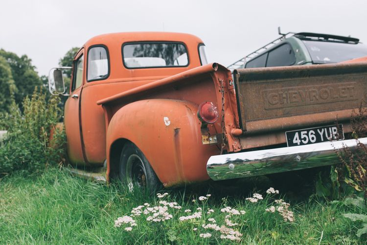 Vintage Chevrolet Wedding Truck