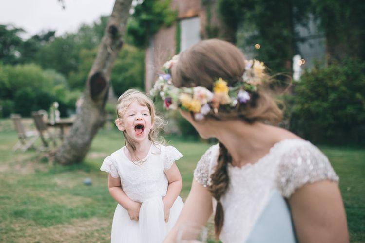 Flower Girl Laughing
