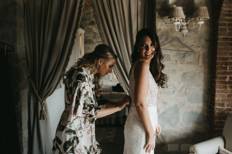 Bridal preparations for wedding in Italy