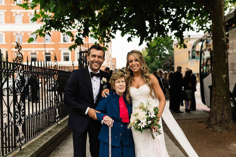 Bride In Suzanne Neville // London Wedding Venue For 300 People Trinity Buoy Wharf With Bride In Suzanne Neville And Images From Paul Joseph Photography Film This Modern Revelry