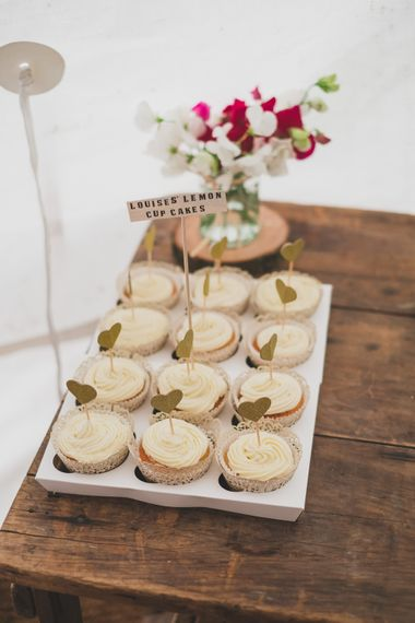 Homemade Cakes For Wedding // Rainy Festival Wedding In East Sussex With Bride In Rime Arodaky And Black Biker Boots And Bridesmaids In White Dresses With Silent Disco Party Images By Jesus Caballero