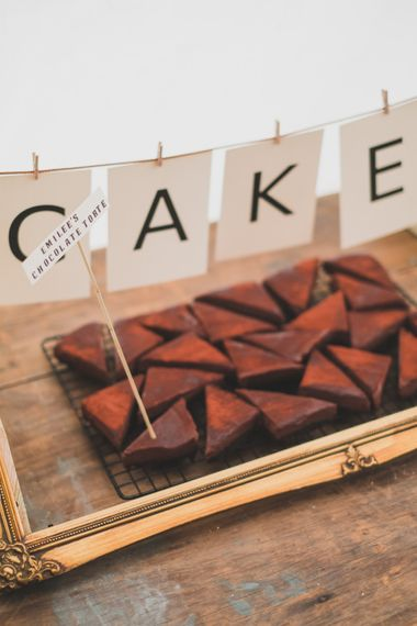 Homemade Cake For Wedding // Rainy Festival Wedding In East Sussex With Bride In Rime Arodaky And Black Biker Boots And Bridesmaids In White Dresses With Silent Disco Party Images By Jesus Caballero