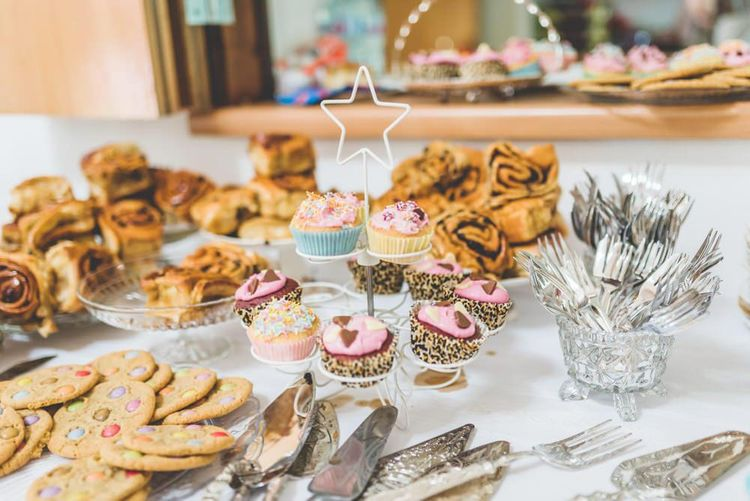 Homemade treats for relaxed and fun village fete themed wedding reception