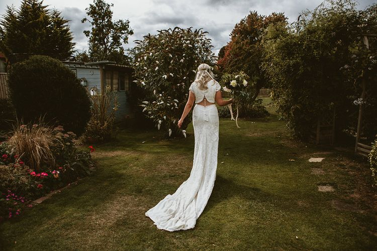 Bride in Olsen Gown by Daughters of Simone