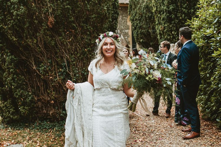 Blushing Bride in Daughters of Simone Wedding Dress