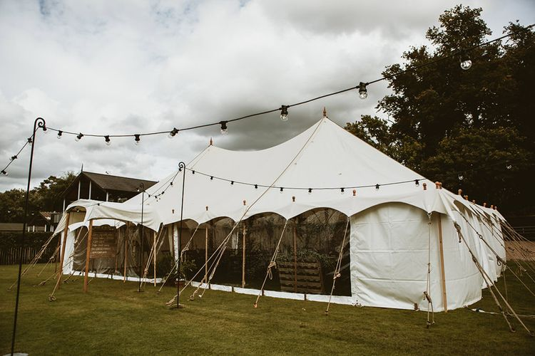 Tipi Tent with Festoon Lights