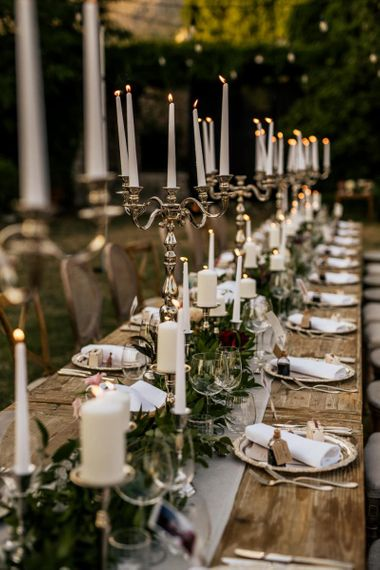 Wedding breakfast table decor