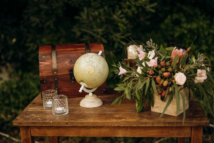 Rustic wedding decor for destination wedding