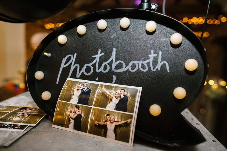Wedding Photo Booth // Elegant Christmas Wedding With Navy And Gold Colour Scheme At Dodmoor House With Bride In Maggie Sottero And Images From Chris Barber Photography