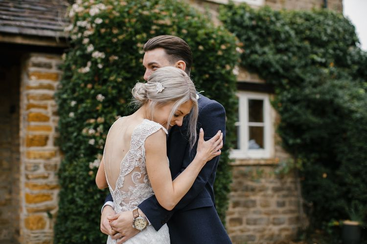 Elegant Christmas Wedding With Navy And Gold Colour Scheme At Dodmoor House With Bride In Maggie Sottero And Images From Chris Barber Photography