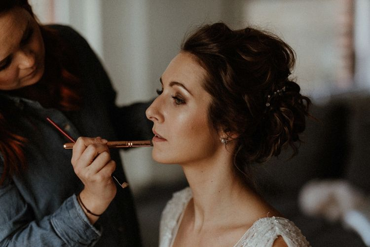Bride Getting Ready // Islington Town Hall Wedding With Reception At St Barts Brewery With Groom In Moss Bros. And Images From Olivia & Dan Photography