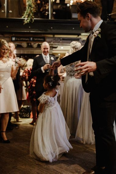 St Barts Brewery Wedding Reception // Islington Town Hall Wedding With Reception At St Barts Brewery With Groom In Moss Bros. And Images From Olivia & Dan Photography