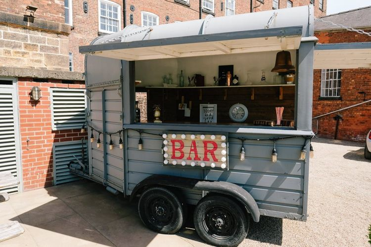 Wedding bar with customised neon sign