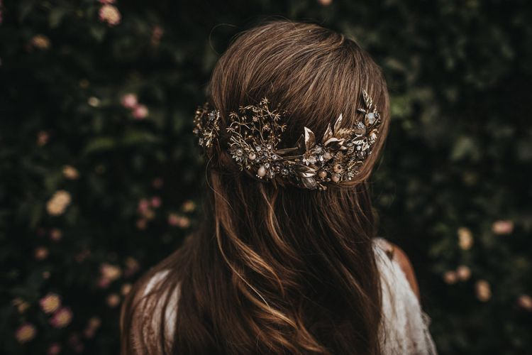 Golden Bridal Head Piece