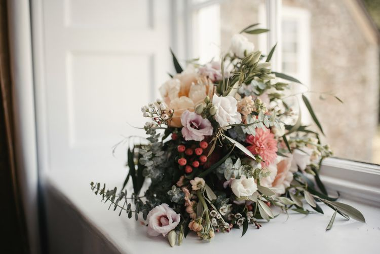 Pink Toned Wedding Bouquet // Image By McGivern Photography