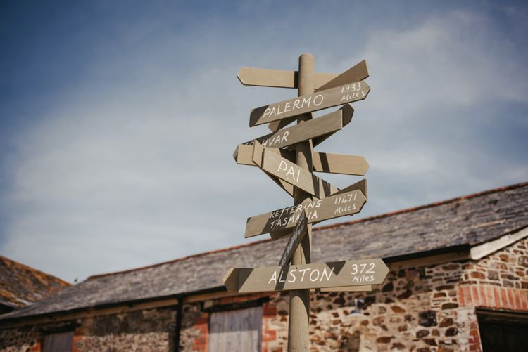 Wooden Sign For Wedding // Image By McGivern Photography