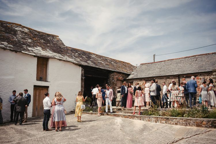 Laid Back Cornish Wedding Planned From Australia At Launcells Barton Bude Bride In Made With Love 'Stevie' Gown Images By McGivern Photography