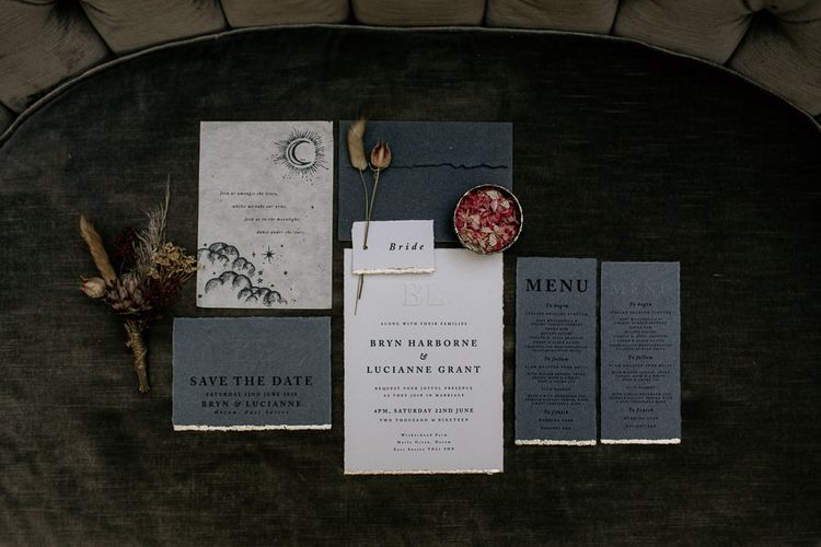 Grey and White Wedding Stationery Suite by White Cottage Weddings