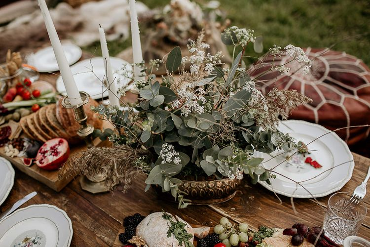 Woodland and Foliage Centrepiece Flowers