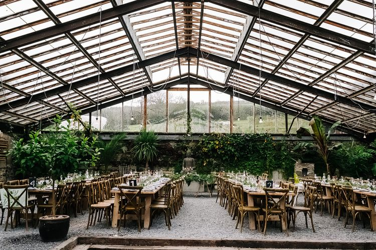 Contemporary Meets Rustic Humanist Wedding at Boutique Venue Anran, Devon. Bespoke Bridal Gown. Photography by Kristian Leven