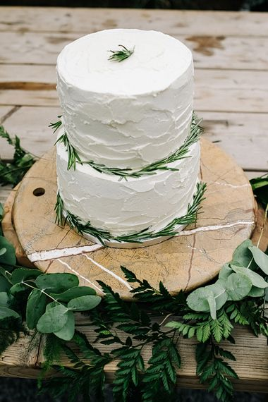 Cake. Contemporary Meets Rustic Humanist Wedding at Boutique Venue Anran, Devon. Bespoke Bridal Gown. Photography by Kristian Leven