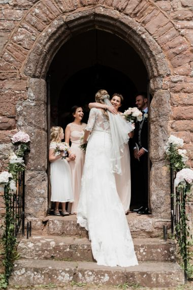 Church  Ceremony Bridal Entrance with Bride in Mori Lee Wedding Dress and Veil
