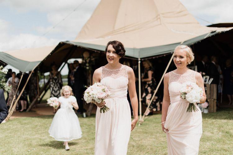 Bridesmaids in Pink Little Mistress Dresses