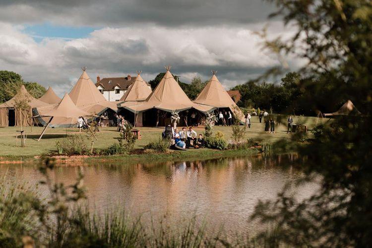 World inspired Tents Tipi Wedding Reception