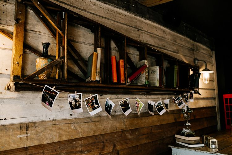Polaroid Pictures Wedding Decor | Quirky Pub Wedding at The Bell in Ticehurst East Sussex | Epic Love Story Photography