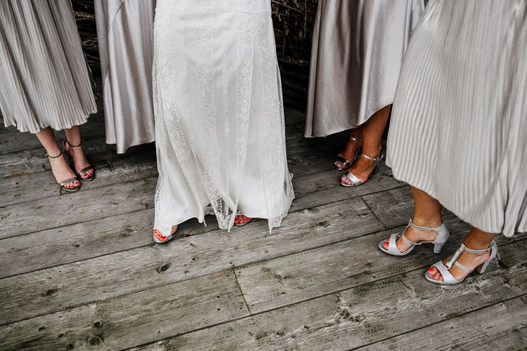 Bridal Party Shoes | Quirky Pub Wedding at The Bell in Ticehurst East Sussex | Epic Love Story Photography