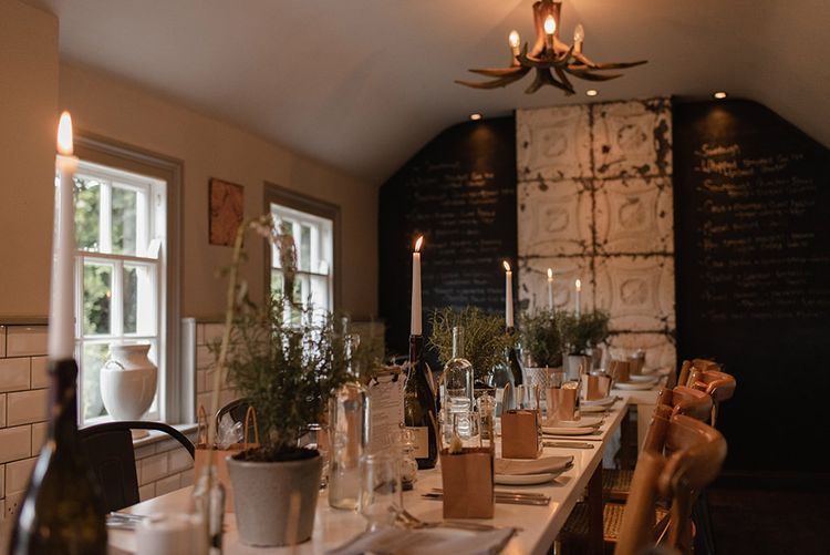 Intimate wedding dinner in Whitby