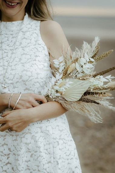 Dried flower bouquet for bride