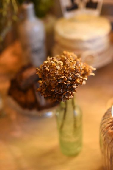 Dried wedding bouquet and flower decor