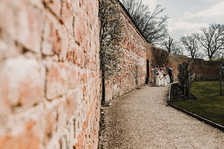 Bridal Party | Bride in Hourglass Essense of Australia Gown | Sophisticated Wedding at Combermere Abbey, Cheshire | Carla Blain Photography