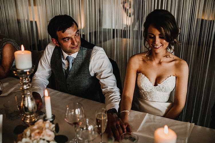 Wedding Speeches | Bride in Hourglass Essense of Australia Gown | Groom in Tweed Suit | Sophisticated Wedding at Combermere Abbey, Cheshire | Carla Blain Photography