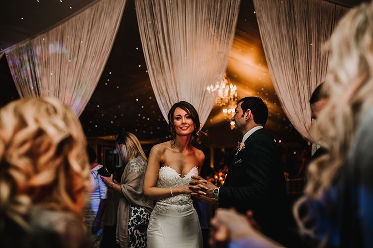 First Dance | Bride in Hourglass Essense of Australia Gown | Groom in Tweed Suit | Sophisticated Wedding at Combermere Abbey, Cheshire | Carla Blain Photography