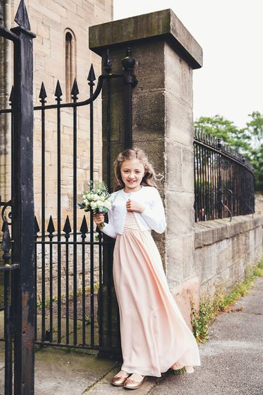Flower Girl | Stylish Modern Marquee Wedding at Priory Cottages in the Yorkshire Dales | Leanne Jade Photography