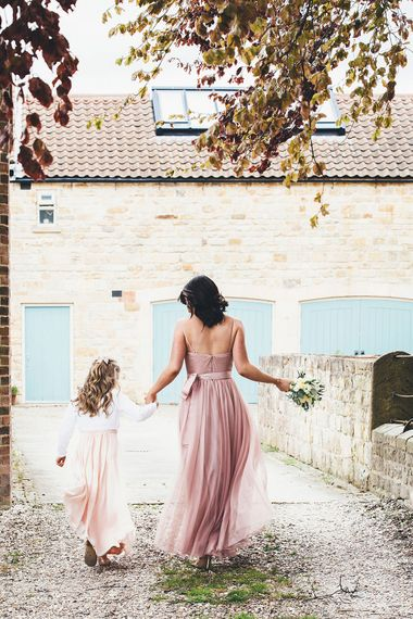 Blush Pink 'Olivia' TH&TH Bridesmaid Dress | Stylish Modern Marquee Wedding at Priory Cottages in the Yorkshire Dales | Leanne Jade Photography