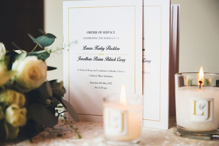 Elegant Wedding Stationery Designed by the Groom | Stylish Modern Marquee Wedding at Priory Cottages in the Yorkshire Dales | Leanne Jade Photography