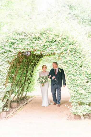Bridal Entrance in Janny Packham Dallas Beaded Wedding Dress
