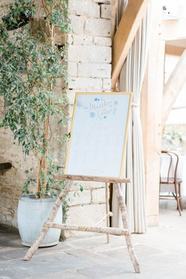 Table Plan on Bamboo Easel
