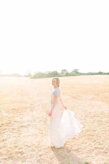 Beautiful Bride in Jenny Packham Dallas Beaded Wedding Dress