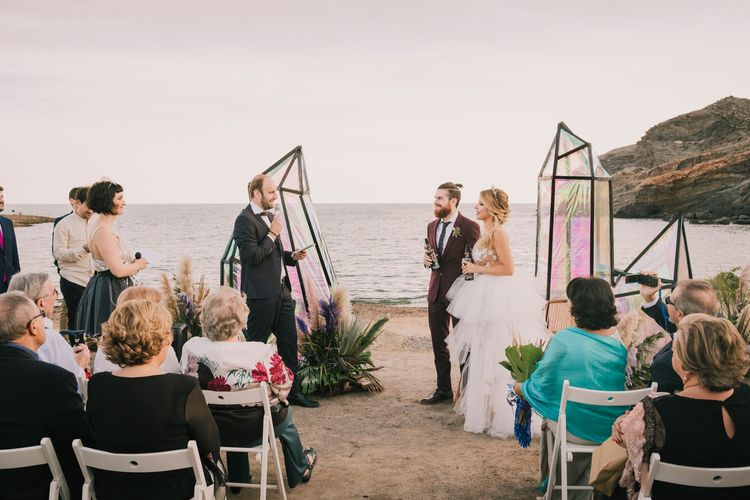 Outdoor ceremony on a Spanish beach