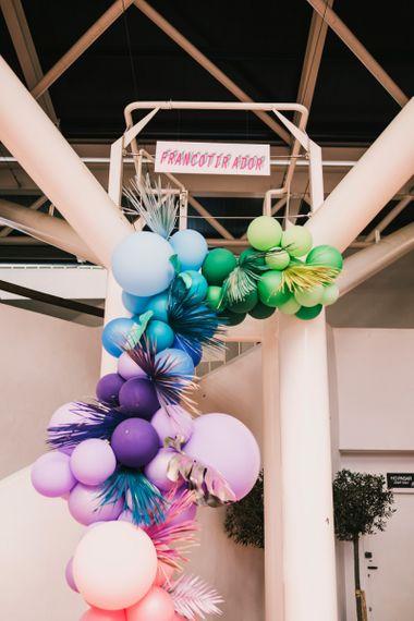 Ombre balloon arch